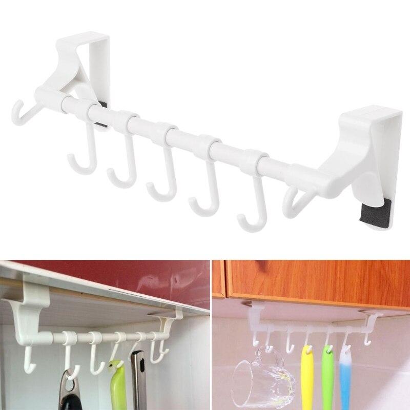 Kitchen Paper Roll Towel Organizer Hanging Door Hook Rack Holder Bathroom Shelf Hot Sale