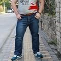 Alta cintura más el tamaño jeans hombres elásticos tamaño grande para hombre de mezclilla largos tamaño más grande Men ' s pantalones vaqueros grandes