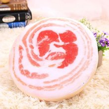 35cm emulational 3D meat Plush toys pillow cushion Pork Creative birthday gift