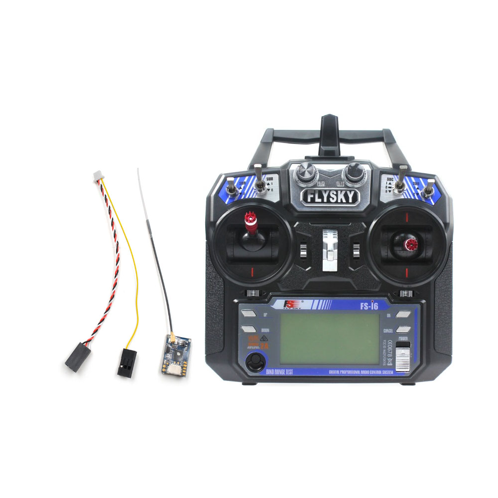 Original Flysky FS-i6 6CH 2.4G AFHDS 2A LCD Transmitter Radio System w/ FS-A8S Receiver for Mini FPV Racing Drone RC Quadcopter jmt kingkong et100 rtf brushless fpv rc racing drone with flysky fs i6 6ch 2 4g transmitter radio system mini quadcopter