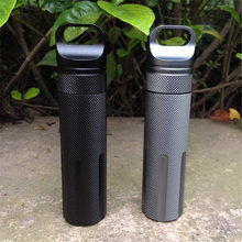 Outdoor Survival Waterproof Tank First Aid Cartridge Medicine Pill Bottle CNC Outdoor Mini Container EDC Camping Equipment AA50