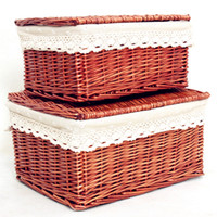 2017 Rushed Sale Fabric Food M L S Sweater Underwear Storage Box Willow Set Storage Basket Lid Large Box Baskets Customize