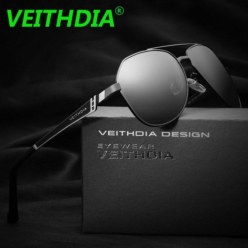 73f2f4f6906b5 VEITHDIA Brand Logo Stainless Steel Coating HD Lens Eyewear Accessories Sun Glasses  Polarized Sunglasses For Men Women
