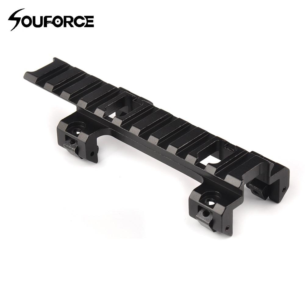 120mm Longue Portée Supérieur Base Mont 20mm Rail Adaptateur pour MP5 Airsoft Portée Gun Assessories pour La Chasse