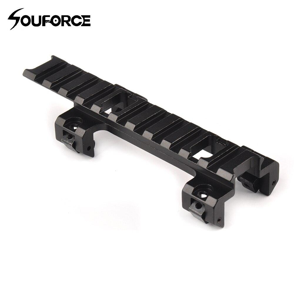 120mm alcance largo mayor Base montaje 20mm adaptador Rail para MP5 Airsoft pistola accesorios para la caza