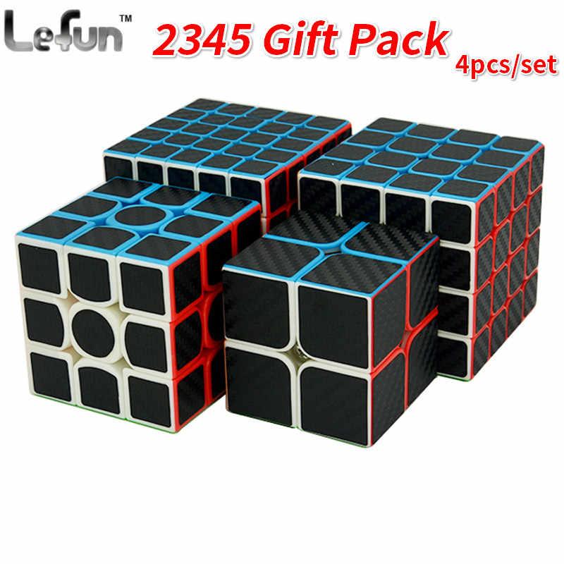 Moyu Meilong Stickerless Speed Cube 2x2x2 3x3x3 4x4x4 5x5x5 Magic Cube Bundle