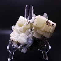1060g NATURAL Stones and Minerals Rock WHITE Calcite GREEN Quartz Chorite Crystals RARE ORE Crystal Specimens CHINA