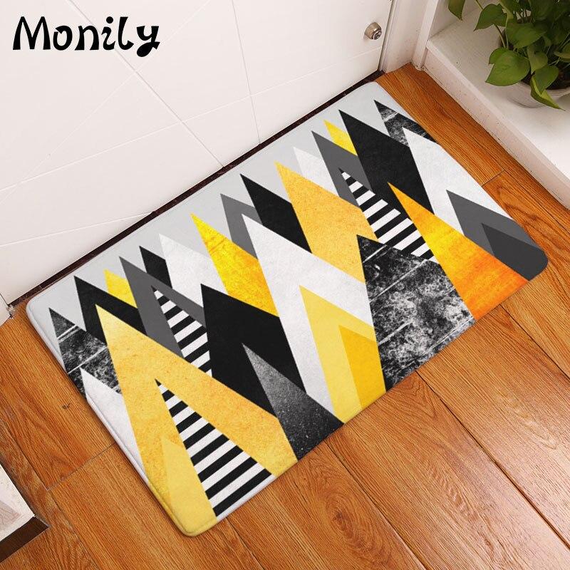 Tropical Plants Print Floor Mats Welcome Bathroom Doormats Kitchen Carpets House Decor For Living Room