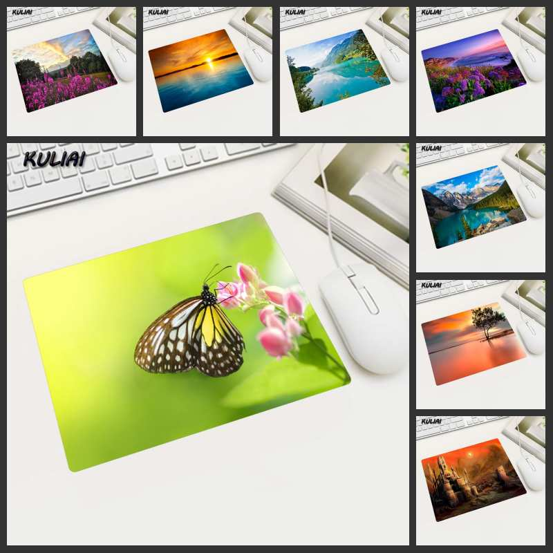XGZ Fresh Scenery Wallpaper Mouse Pad 22X18CM Non-slip Washable Suitable Home Computer Office Pc Can Be Wholesale For Gifts