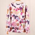 Новый Swag Одежда Женщины Толстовки Мода Мороженое Печатные Кофты Повседневная Красочные Harajuku Костюмы Женский Sudaderas