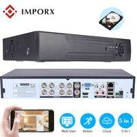 8CH 16CH 32CH CCTV NVR Регистраторы 1080 P Onvif IP Камера безопасности Системы 5 в 1 видеорегистратор с Cloud P2P, eSATA/TF/USB пульт дистанционного Управление