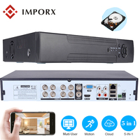 8CH 16CH 32CH CCTV NVR Recorder 1080P Onvif IP Camera Security System 5 In 1 DVR with Cloud P2P,eSATA/TF/USB Remote Control