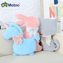 Metoo Cute Cat Rabbit Kawaii Animal Pillow Quality Baby Child Girl Birthday Gift Doll Soft Sleeping Pillow Quality(China)
