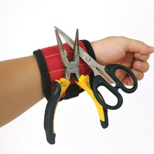 Magnetic Wristband Portable Tool Bag Electrician Wrist Tool Belt Screws Nails Drill Bits Holder Collecting Portable Repair Tools strong magnetic wristband bracelet portable tool bag for holding screws nails drill bits tool wrist belt magnetic wristband