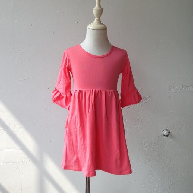 6b4828b2a الجملة طفل بسيط القطن الفساتين الفتيات فساتين الاطفال رخيصة أحدث الأطفال  اللباس عيد تصاميم