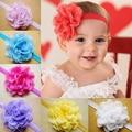 Quente Do Bebê Da Menina Da Criança Chiffon Flor Headband Faixa de Cabelo Floral Cocar 5BV9 7G2K