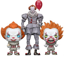 Neca Stephen King Ini Pennywise Joker Action Figure Halloween Cosplay Masker Mainan Boneka Hadiah(China)