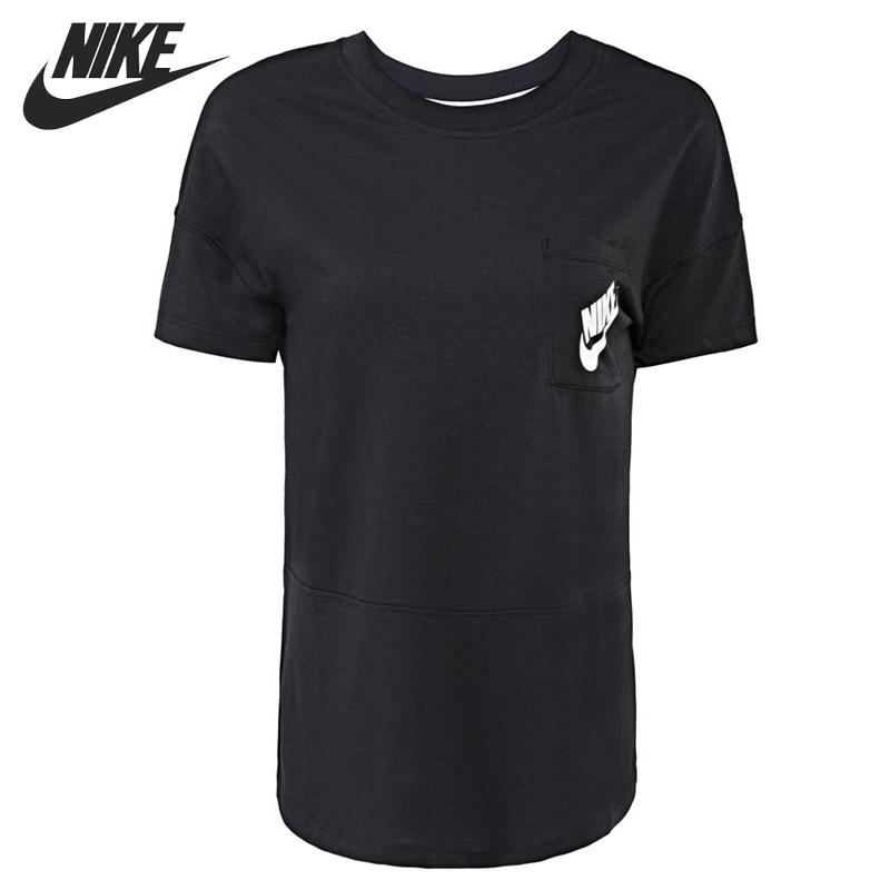 Original New Arrival  NIKE SIGNAL TEE Women's T-shirts  short sleeve Sportswear inc international concepts new short sleeve woven front tee xl $59 5 dbfl