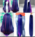 free shipping My Little Pony Twilight Sparkle Long straight Mixed Purple/Pink Anime Cosplay Wig with Claw Ponytail Set
