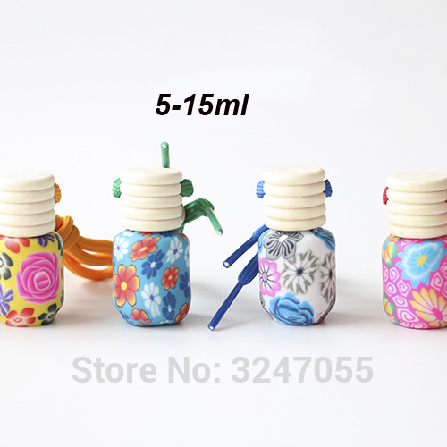 5ML 15ML 50pcs lot Handmade Empty Polymer Clay Glass Perfume Package High end Charming Glass Scent