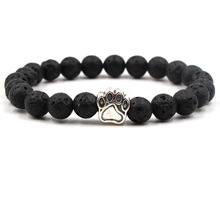 Wholesale Natural Stone Mala Bead Yoga Bracelet Pitbull Dog