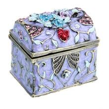 1.5inch Women Metal Vintage Music Box  Wedding Trinket Box Ring Jewelry Box Storage Wedding Jewelry Case Souvenirs Gift Crafts