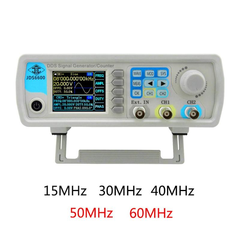 Série MAX 60 JDS6600 mhz Controle Digital Dual-channel DDS Gerador de Sinal da Função Arbitrária Ferramenta Medidor De Freqüência de Onda Senoidal