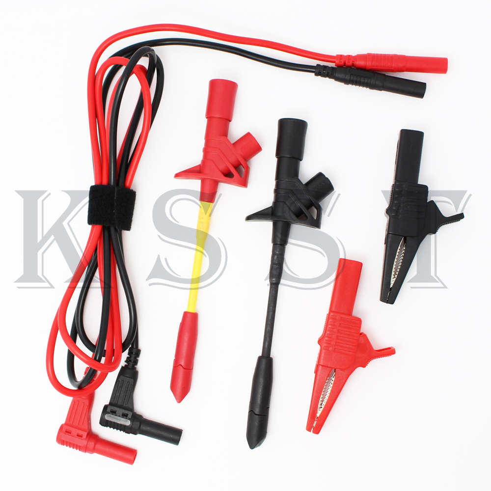 DMM03A  1Pair 13AWG Silicone wire + 1Pair Safety puncture hook + Safety insulation alligator clip Red and Black заготовки под роспись lori тарелка декоративная под роспись disney фея динь динь