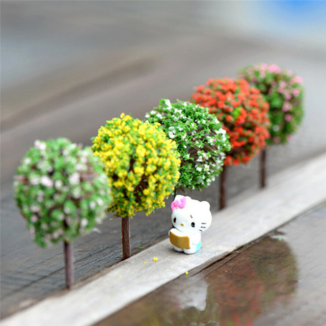 Hot 5 Colors Home Garden Decoration Simulation Tree Flower Ball Tree Micro  Simulation Landscape Ornaments Accessories