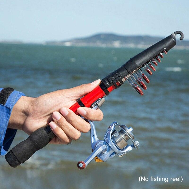 Portable Telescopic Fishing Pole Small Size Hard Fishing Rod for Sea Lake FG66