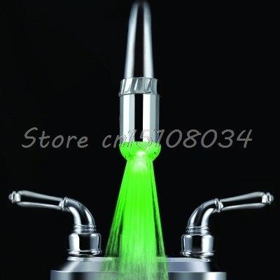 Термометры 3 цвета RGB светодиодные Водопроводной воды кран Glow душ S08 Прямая поставка