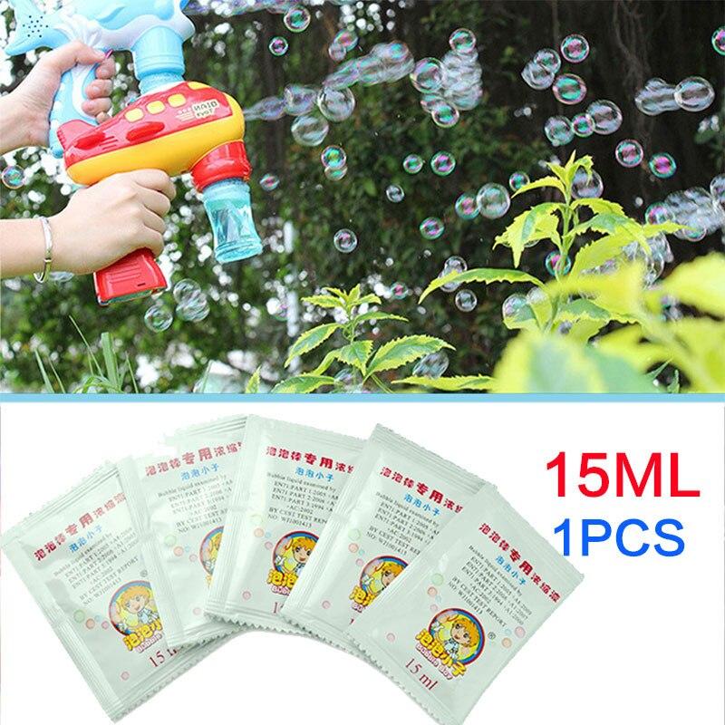 15 мл для детей ToysProfessional пузырьковый концентрат воды для пистолет для мыльных пузырей или выдувания палочка для выдувания пузырей пузырьки жидкость для детей
