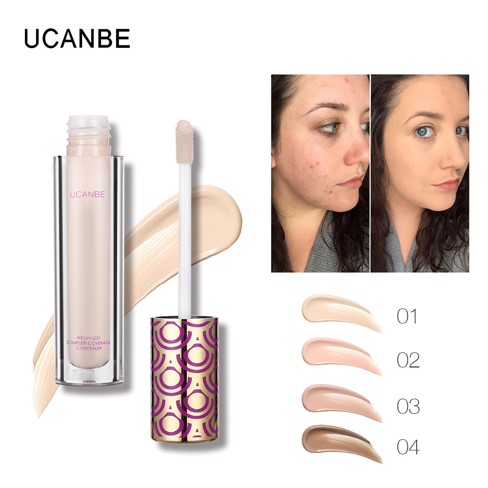 UCANBE Liquid Concealer Makeup Skin Whitening Longlasting Perfect Cover Face Flaws Concealer Cream Brighten Contour Cosmetics