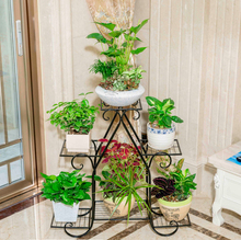 83cm big size european balcony indoor flower pot holder garden flower stand iron flower pergolas white black and copper color