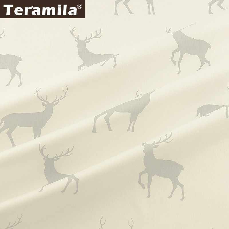 Teramila 100% Cotton Fabric Meters Sika Deer Design Telas Tissus DIY Quilts Patchwork Bedsheet Curtains Baby Dress Home Textile
