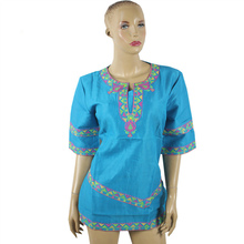 ФОТО  African dashiki riche traditional embroidery dress short - sleeved short skirt natural linen material production