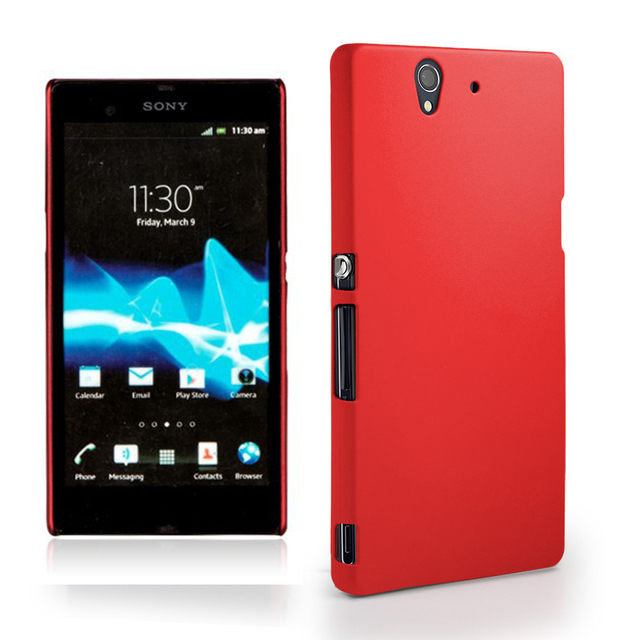 Rubber matte Scrub Skin case For Sony Xperia Z L36H L36 L36i C6603 C6602 LT36 Hard Back Cover model phone shell
