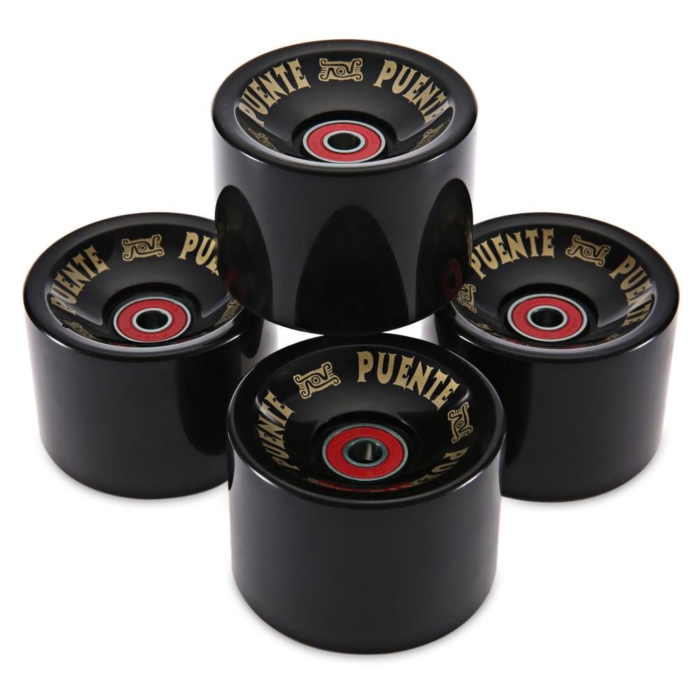 High Quality 4pcs Cruiser Skateboard Wheels 70 X 51mm Durable PU Wheels Longboard Cruiser Wheels With ABEC-9 Bearings