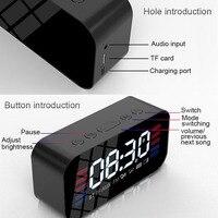 fm tf Bluetooth Portable Wireless Speaker Super Bass Music Mirror Sound Box Time Snooze Alarm Clock Support TF Card FM Radio Aux Input (3)