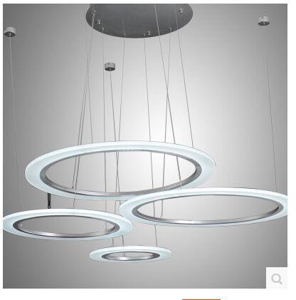Moda LED acrílico anular lámpara de sala de estar droplight contratado y dormitorio contemporáneo Tamaño del restaurante: 40 + 30 + 20 CM - 3