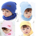 1pc Baby Hat And Scarf Set Autumn Winter Baby Hat Girls Boys Hats Newborn Caps 6 Colors -- MKE017 PT15