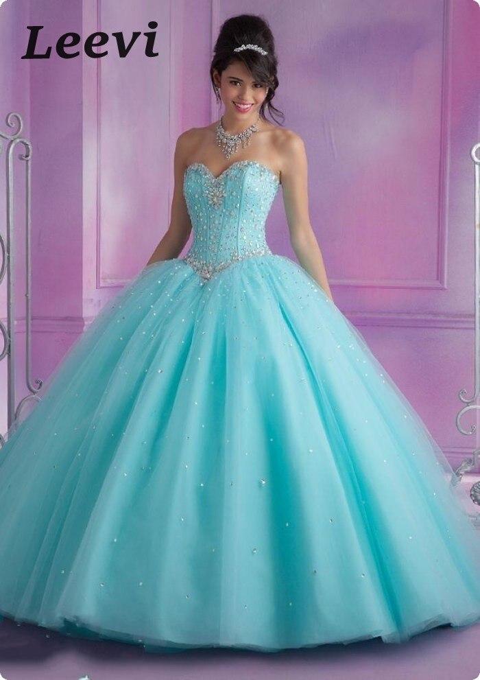 Light Blue Sweet 15 Dresses - Missy Dress