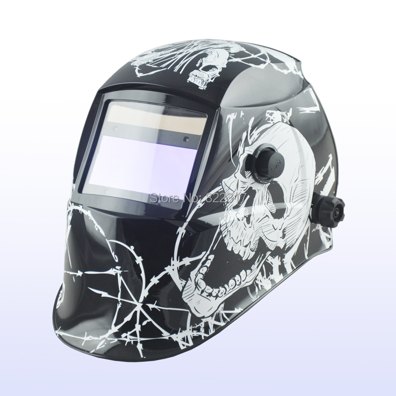 Auto darkening welding helmet/welding mask/MIG MAG TIG/Grinding welder helmet mag tig grinding function polished chrome for free post