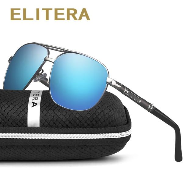 466dcfeb31 ELITERA Classic Men s Square Polarized Sunglasses Men Women Vintage Driving  Mirror Sun Glasses UV400
