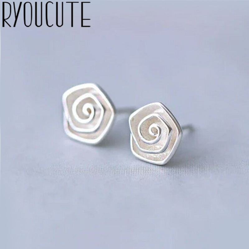 Silver Color  Rose Flower Earrings For Women Wedding Ladies Earrings Statement Jewelry Female Party Gift Brincos