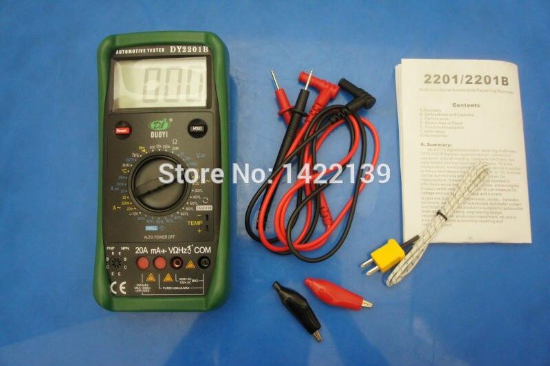 DUOYI DY2201B compteur automobile et testeur de batterie multimètre Instrument électrique