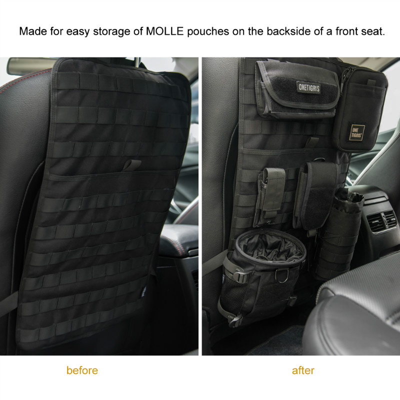 OneTigris Tactical Molle Car Seat Organizer 1000D Nylon Back Cover Protector Fits For All Cars In Outdoor Tools From Sports