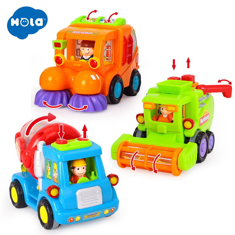 Alert Hola 386 Wholesale Baby Toys Push & Go Friction Powered Car Toy Trucks Children Pretend Play Toys Great Xmas Gifts Do You Want To Buy Some Chinese Native Produce?