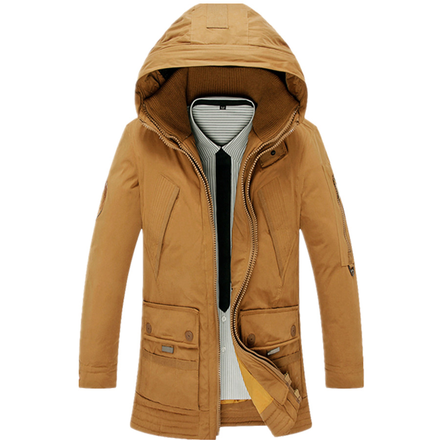 Size M-3XL New Mens Casual Hooded Thick Winter Warm Snow White Duck Down Jacket Coat For Men Winter, 3 Colors,TH006