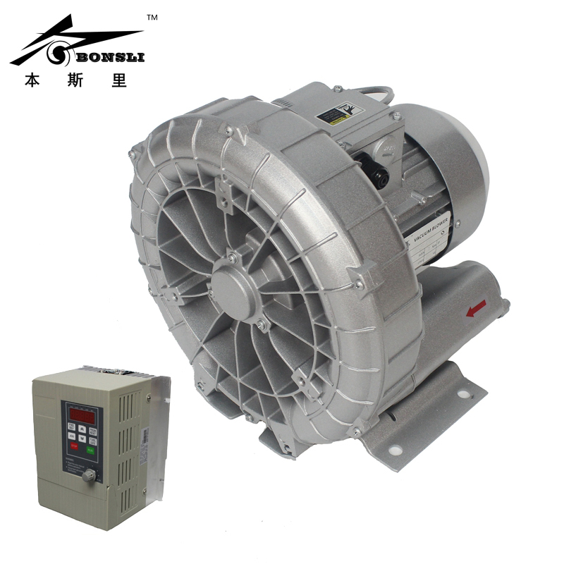 vortex blower/vacuum pump ring blowers for aquaculture 1.25in inlet&outlet stepless pressure control VFD vacuum pump inlet filters f007 7 rc3 out diameter of 340mm high is 360mm